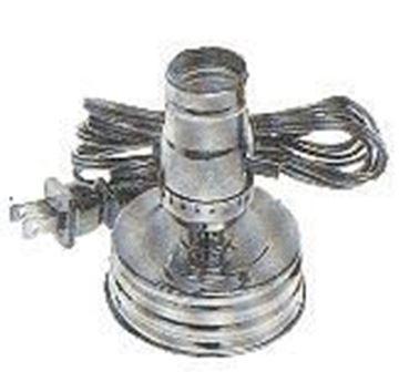 Gold Zinc Plated Mason Jar Lamp Kit