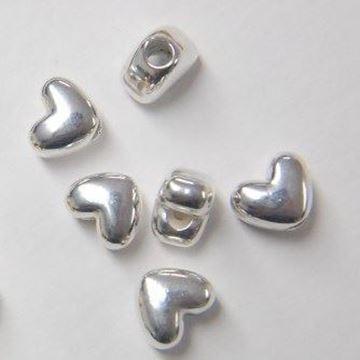 Heart Pony Beads - Silver