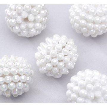 white berry beads