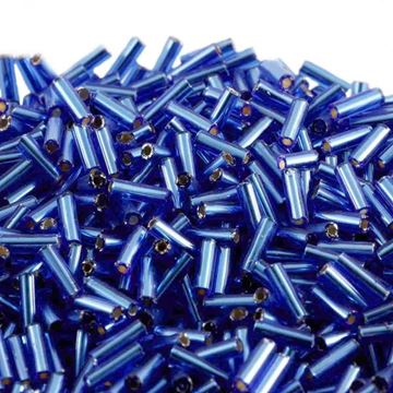 Blue Bugle Beads
