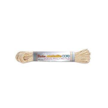 11 White/Gold Darice Metallic Cord