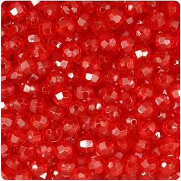 T-893 Red Faceted Beads