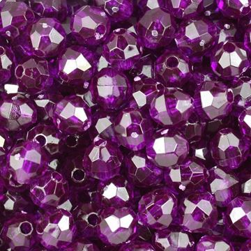 T-896 Dk. Amethyst Faceted Beads