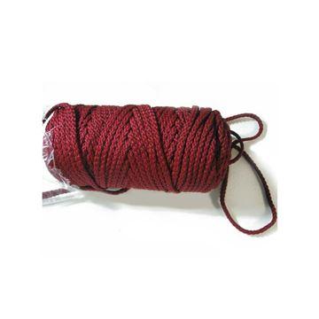 025 Burgundy Braided Macrame Cord