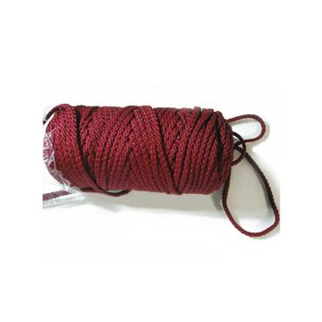 025 Burgundy Braided Macrame Cord