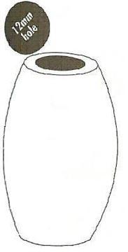 28x44 (12mm Hole) Oval Wood Beads